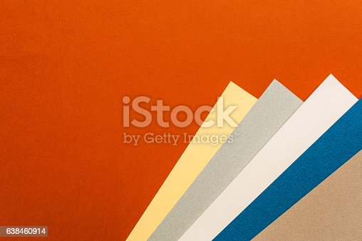 istock Coloured and white paper sheets 638460914