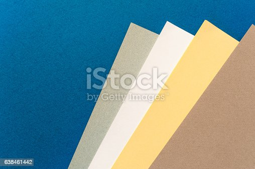 istock Coloured and white paper sheets 638461442