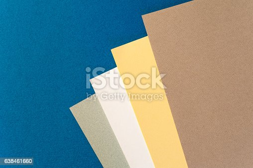 istock Coloured and white paper sheets 638461660