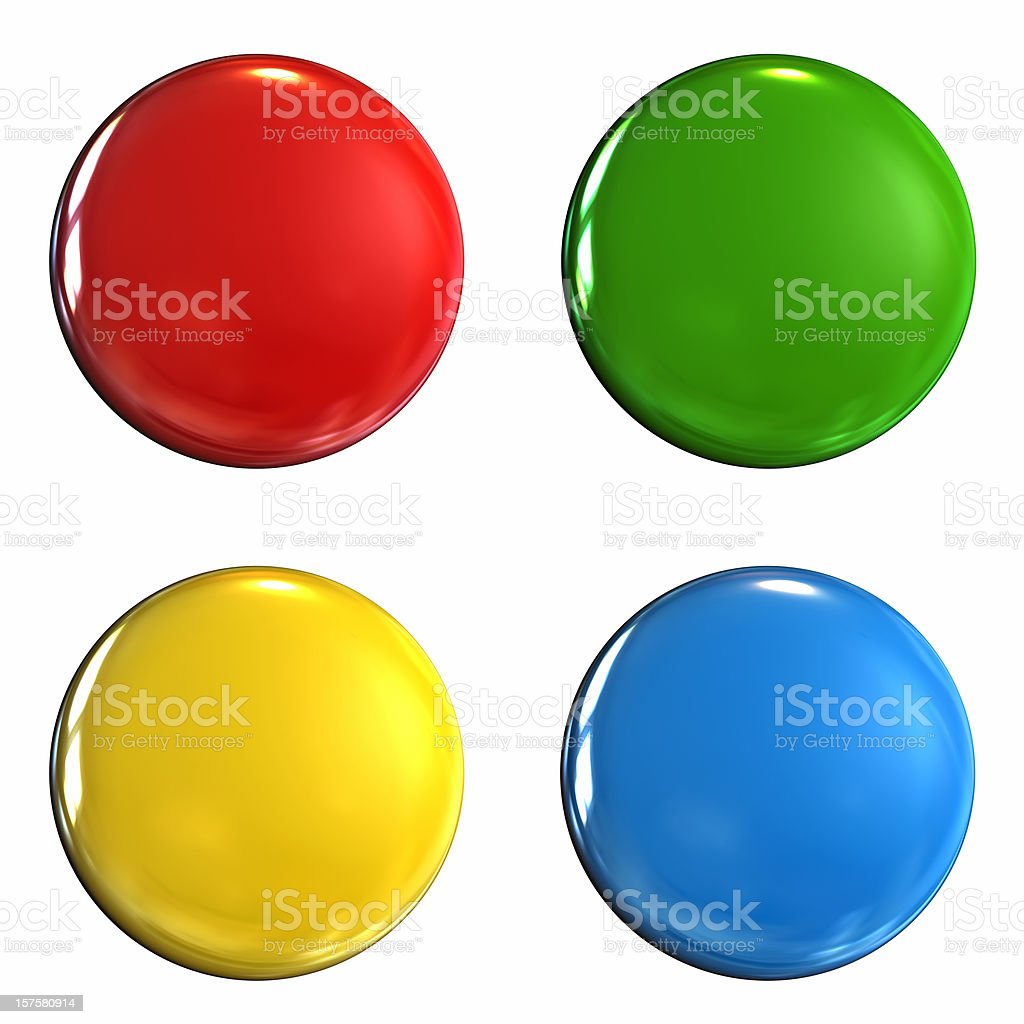 Coloured badge stock photo