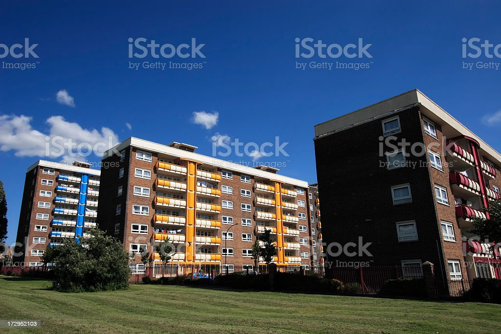Coloured Balconies royalty-free stock photo