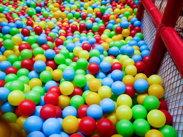 coloured balls-ball pool stock photo