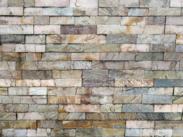 Coloured bricks, paving stones as background stock photo