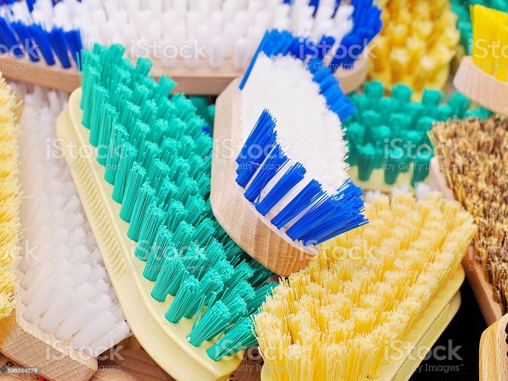 coloured brushes royalty-free stock photo
