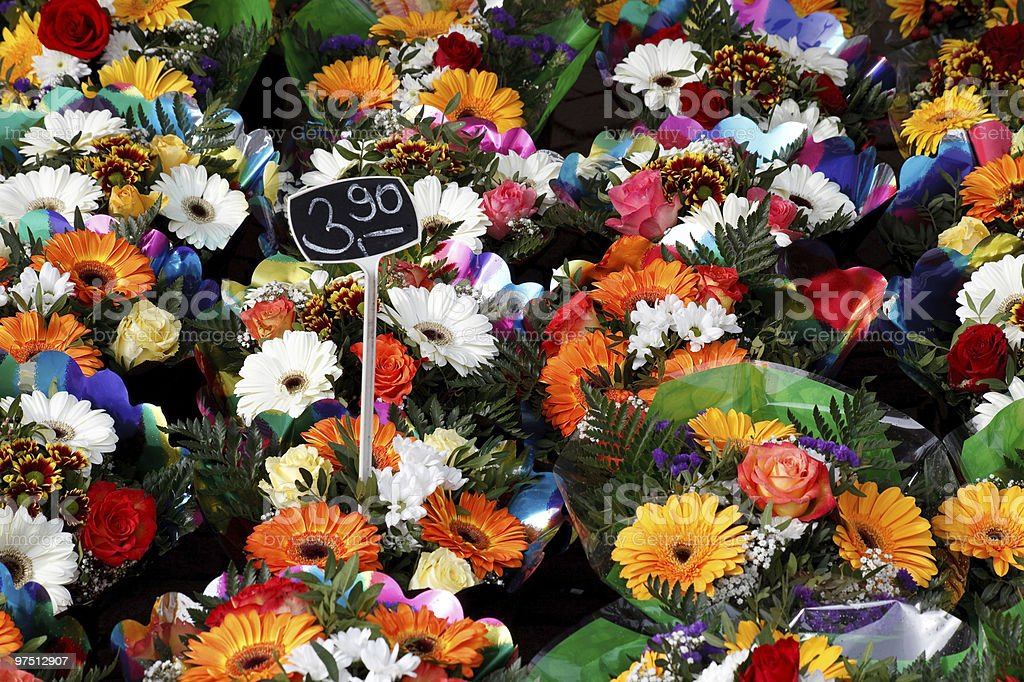 coloured bunch of flowers royalty-free stock photo