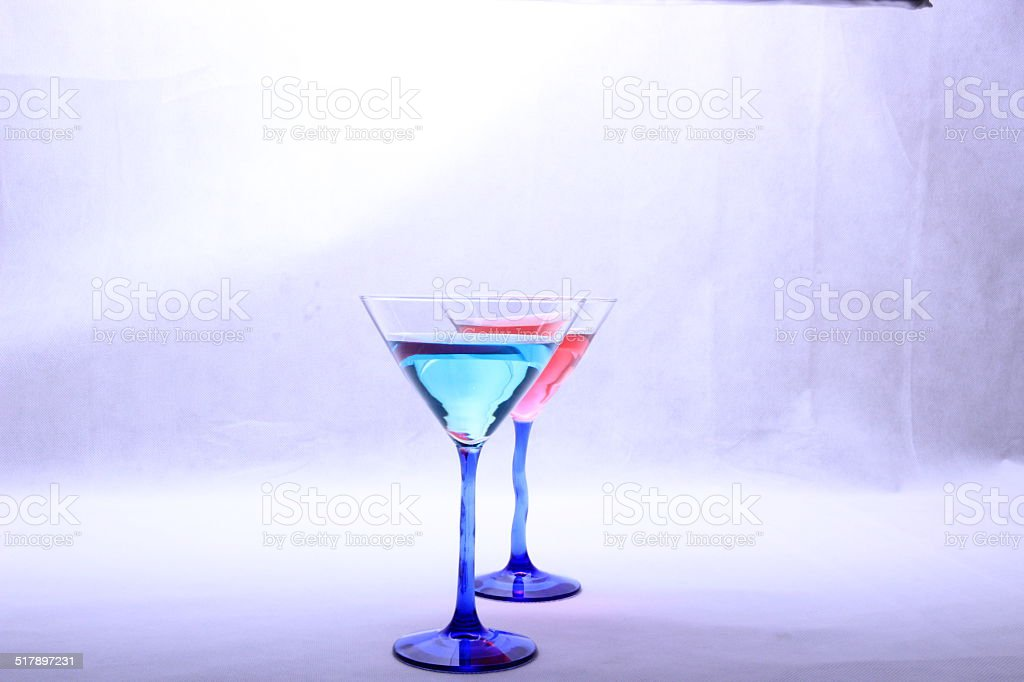 Coloured Cocktails stock photo