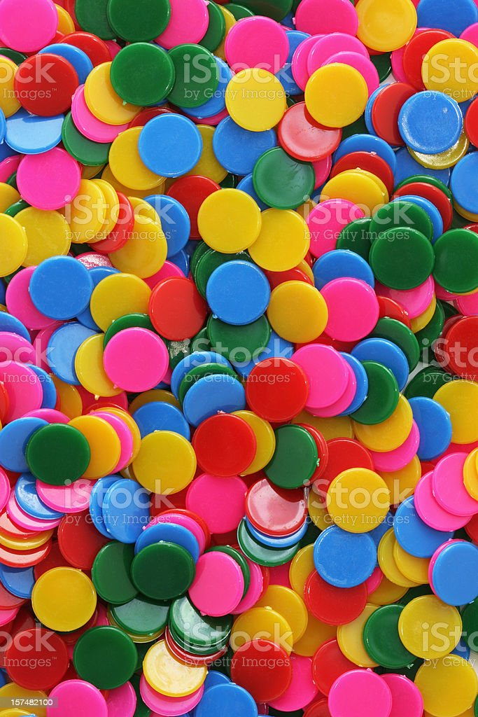 Coloured Counters Background stock photo