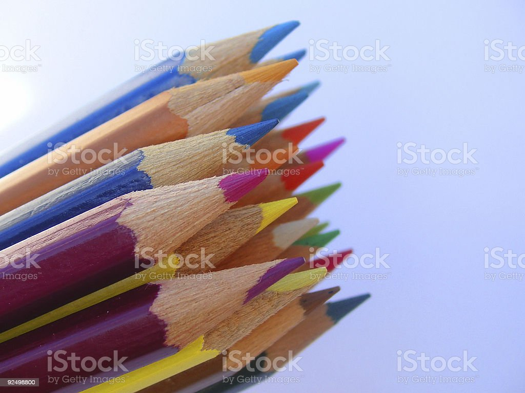 coloured  crayons royalty-free stock photo