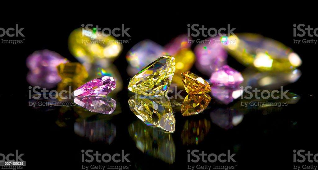 Coloured diamonds – Foto