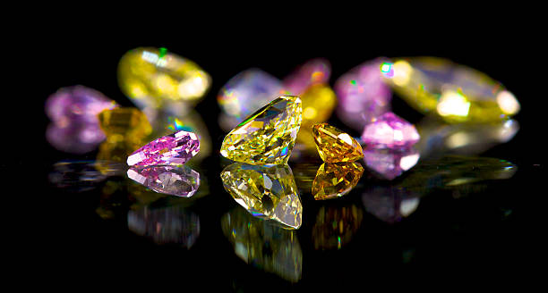 Coloured diamonds – Foto
