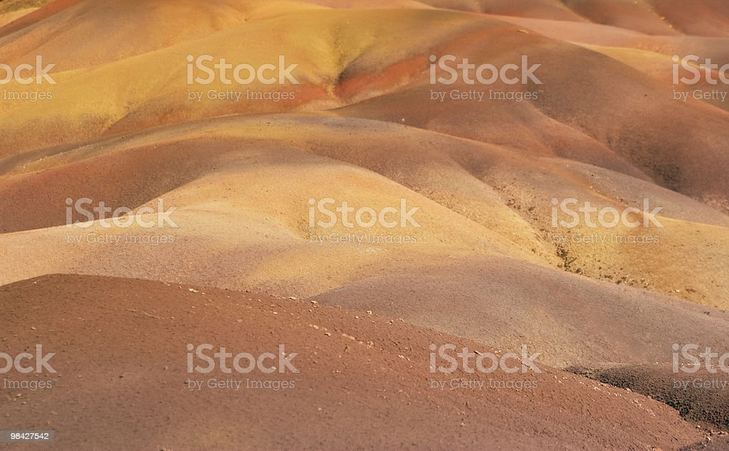 Coloured Earth of Chamarel royalty-free stock photo