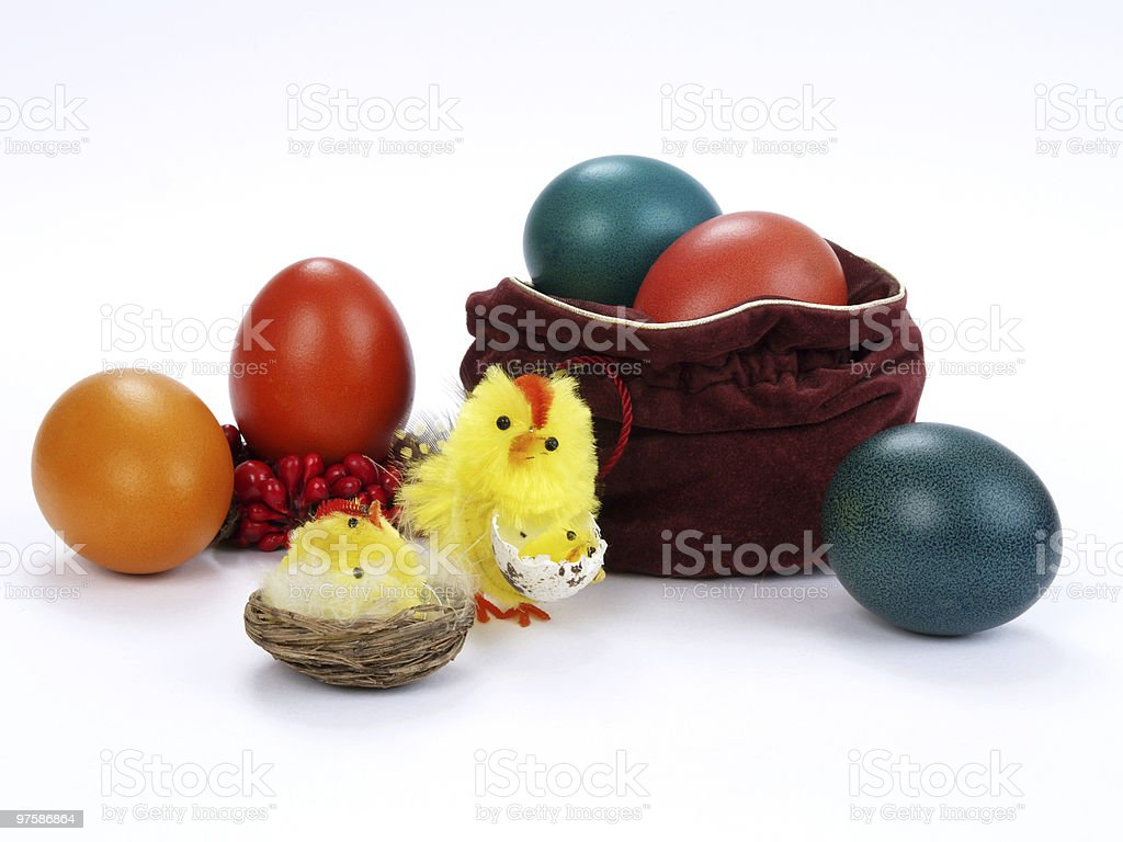 Coloured Easter Eggs royalty-free stock photo