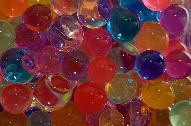 Coloured gel beads stock photo