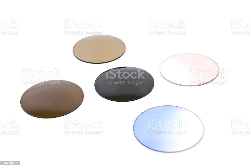 Coloured Glasses stock photo