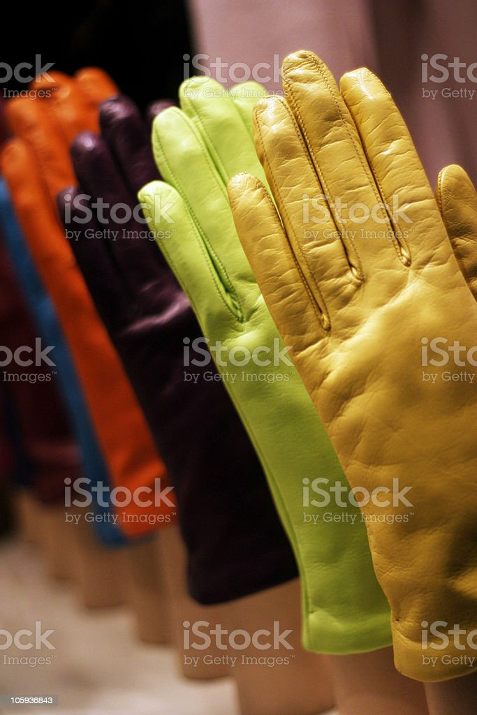 coloured gloves royalty-free stock photo