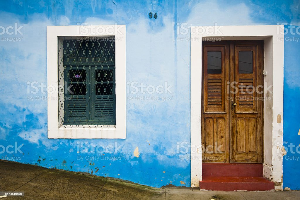 Coloured house in Olinda, Brazil royalty-free stock photo