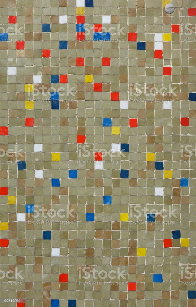 Coloured mosaic tiles. Background texture stock photo
