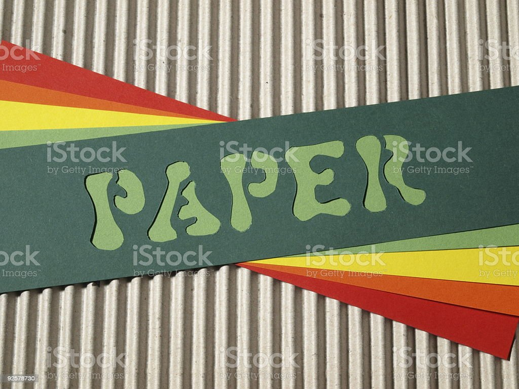 coloured paper royalty-free stock photo