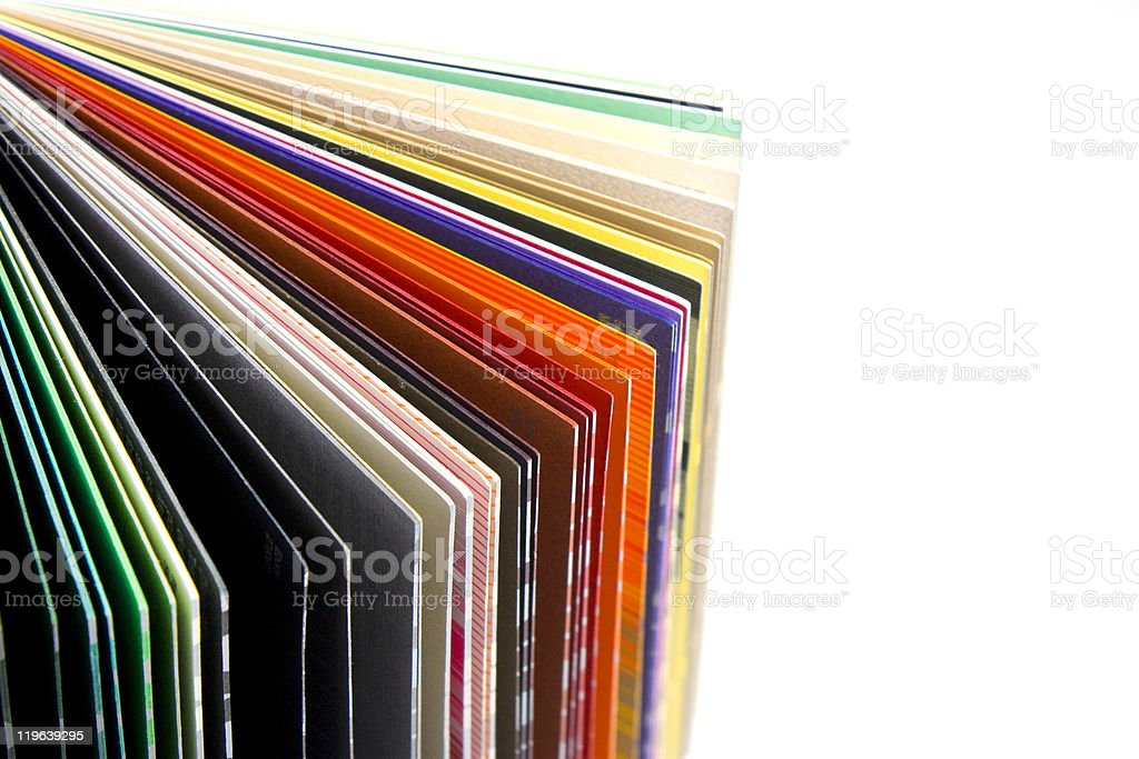 coloured papers royalty-free stock photo
