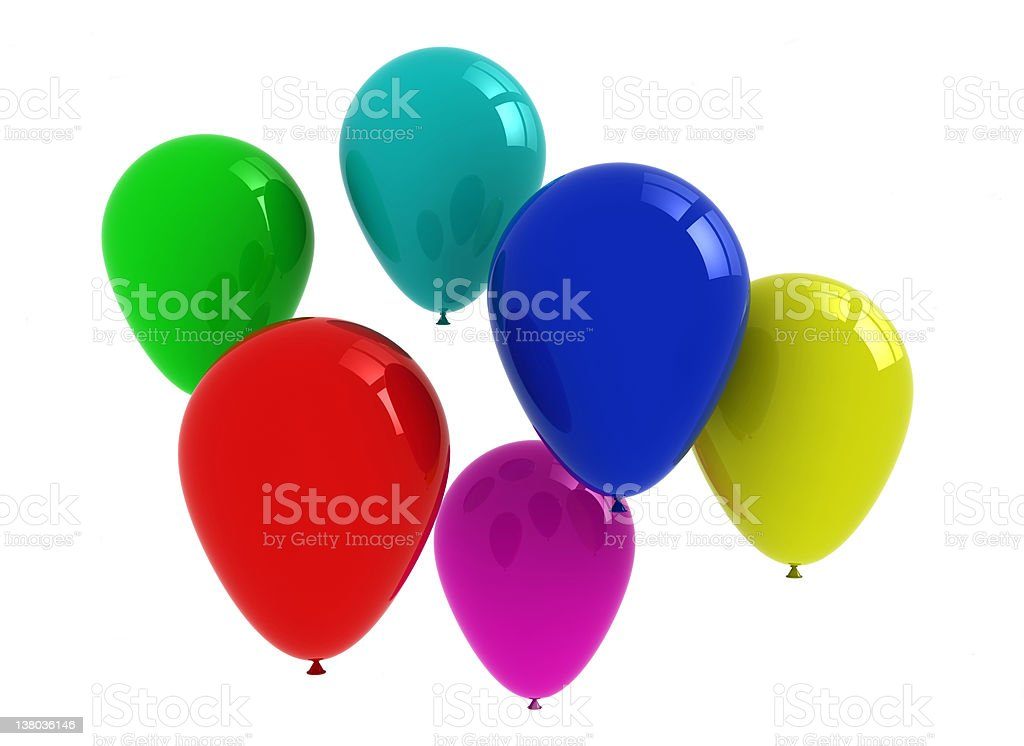 Coloured party balloons royalty-free stock photo