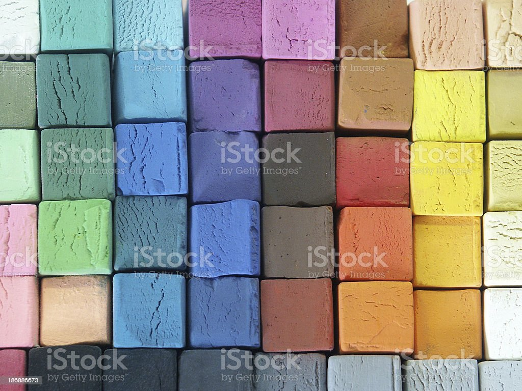 Coloured Pastels stock photo