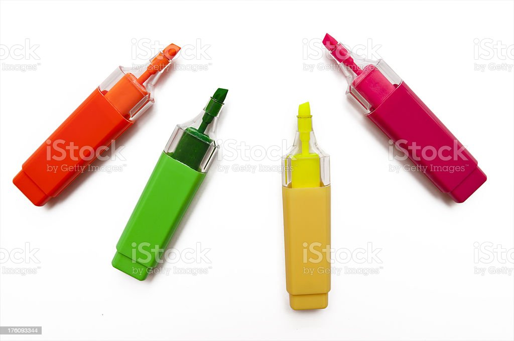 coloured pen royalty-free stock photo