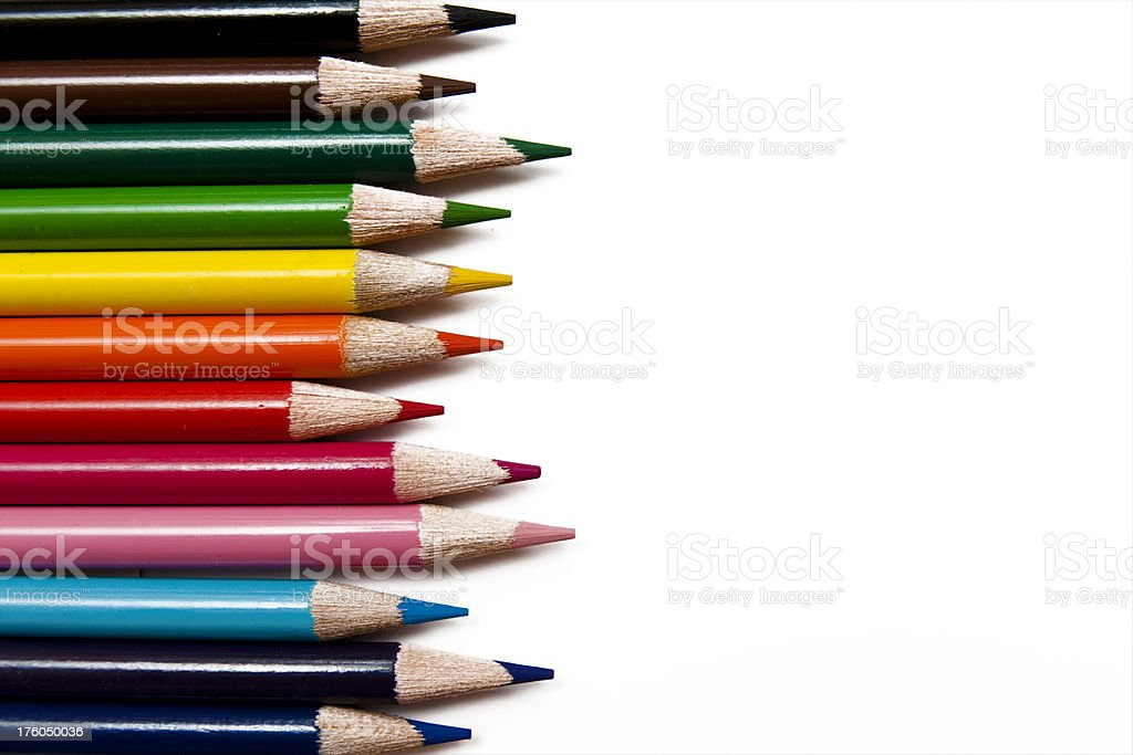 Coloured pencil royalty-free stock photo