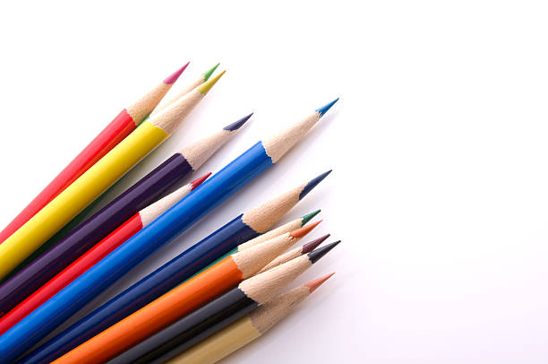 coloured pencil - coloured pencil stock photos and pictures