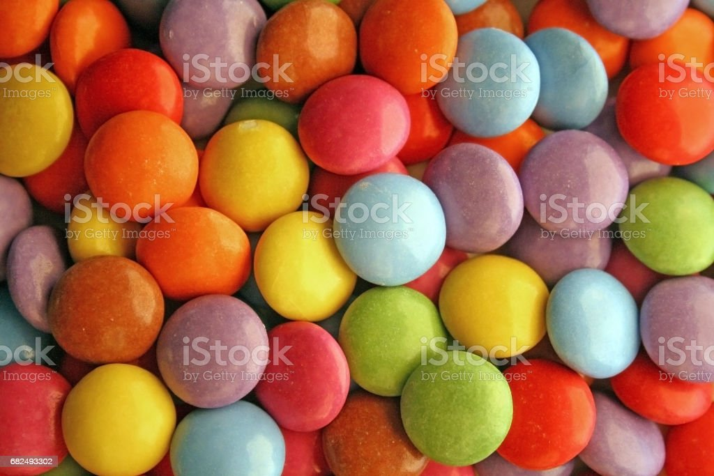 Coloured round candies royalty-free stock photo