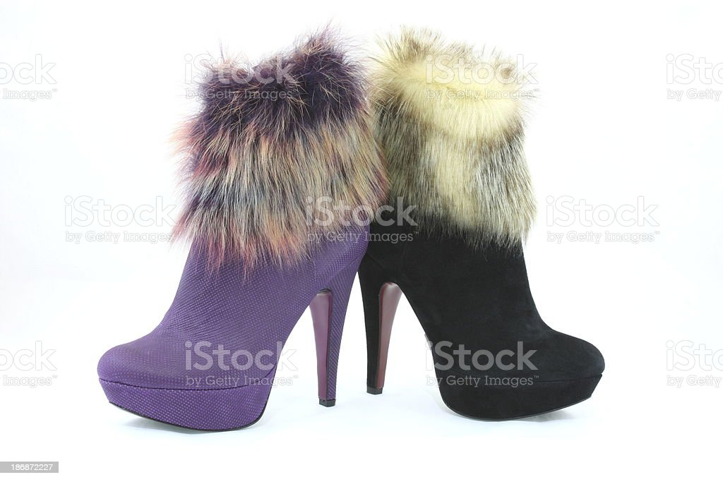 Coloured Shoes royalty-free stock photo