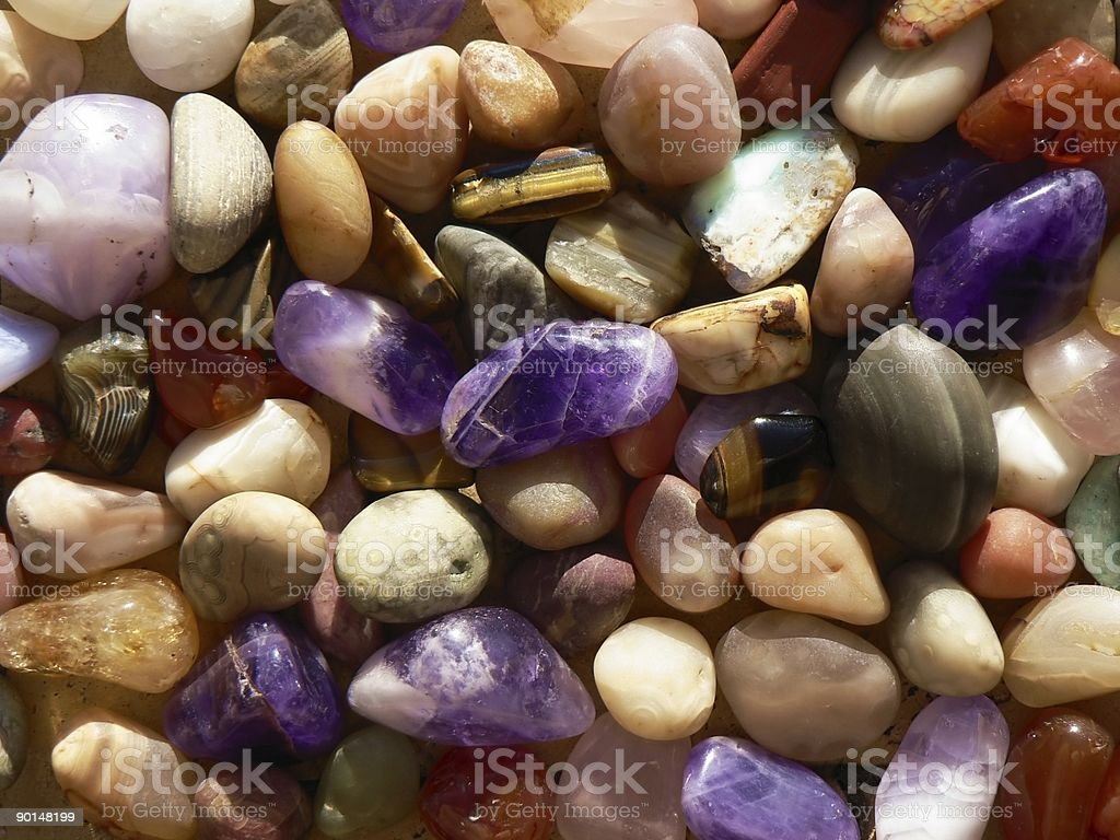 Coloured Stones stock photo