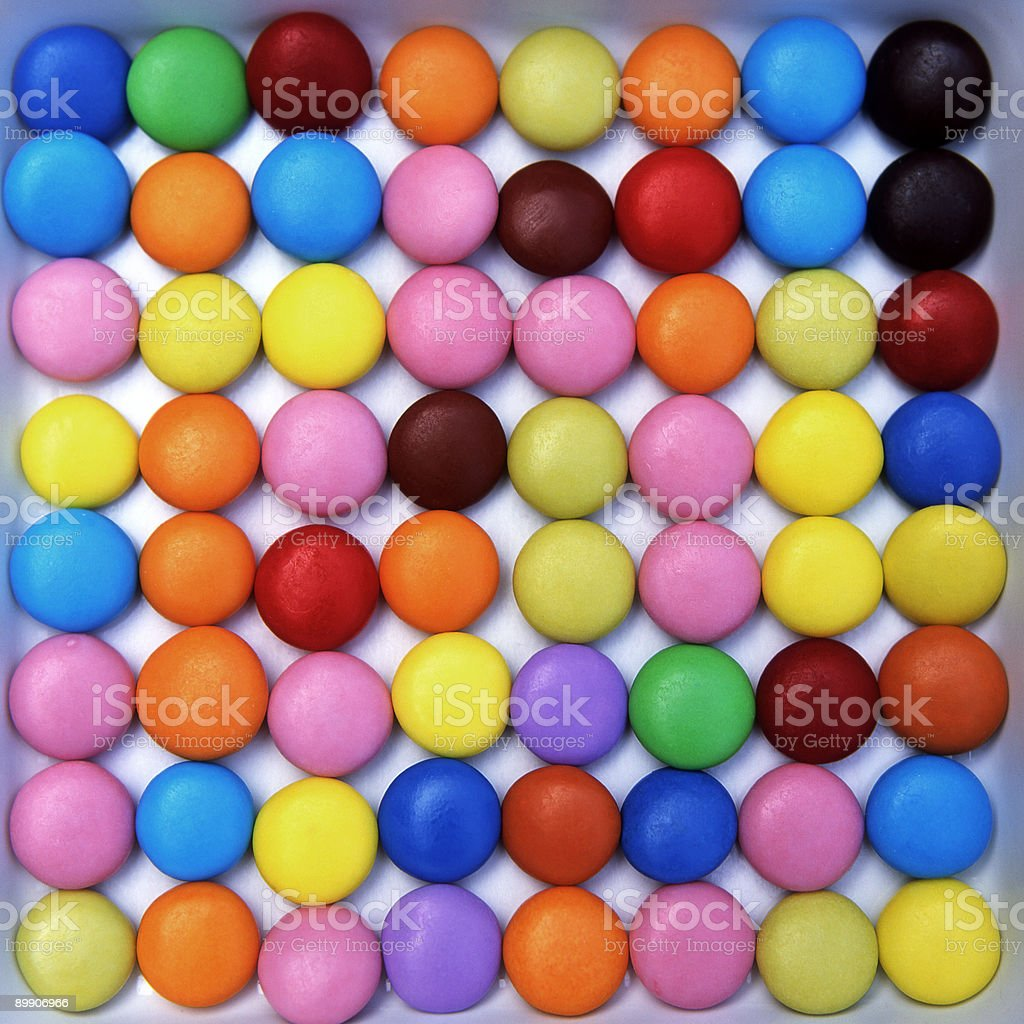 Coloured Sweets royalty-free stock photo