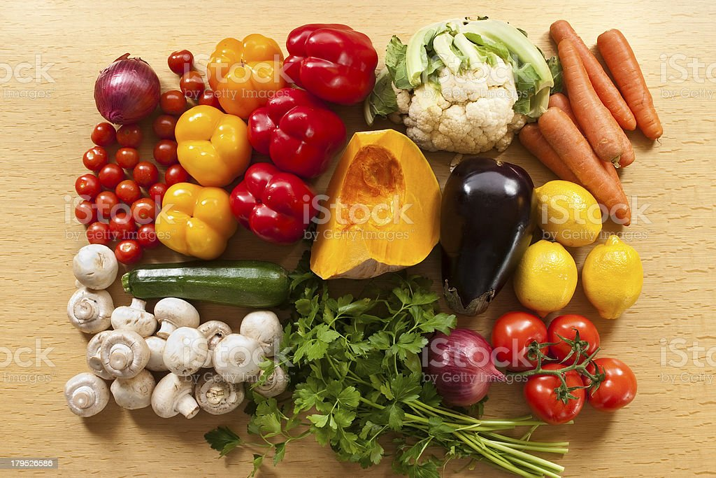 Coloured vegetable royalty-free stock photo