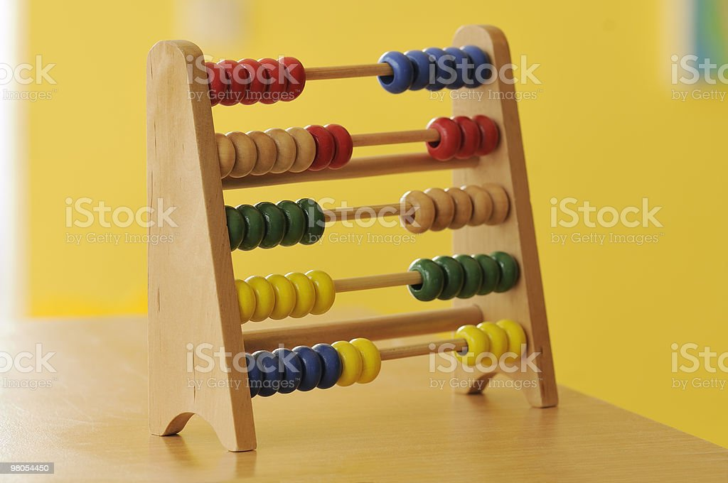 Coloured wooden abacus royalty-free stock photo