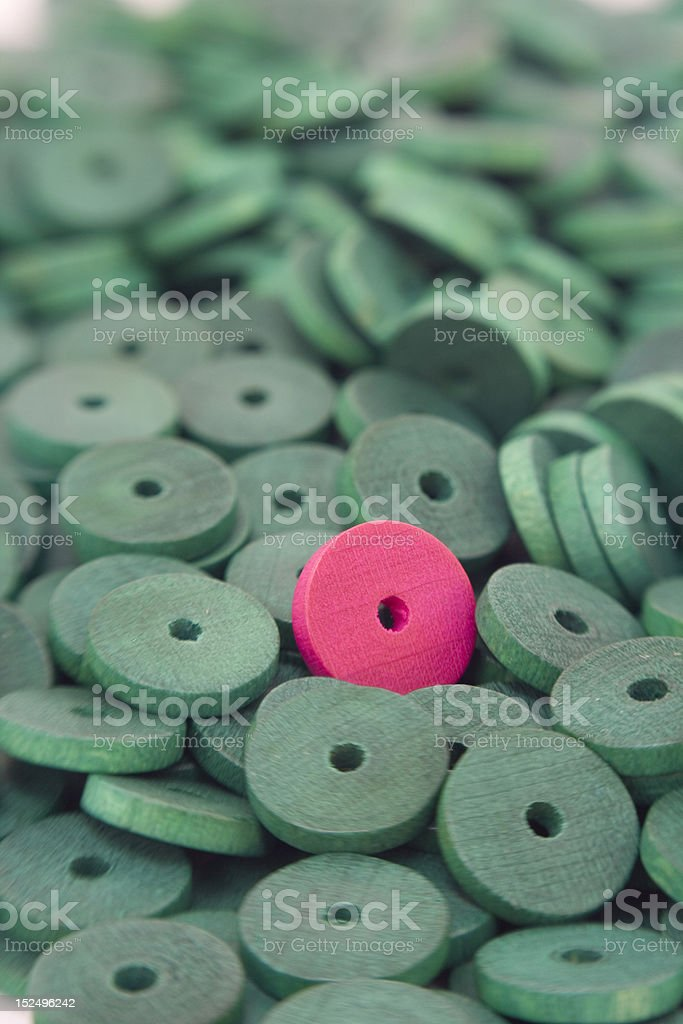 Coloured wooden beads background stock photo