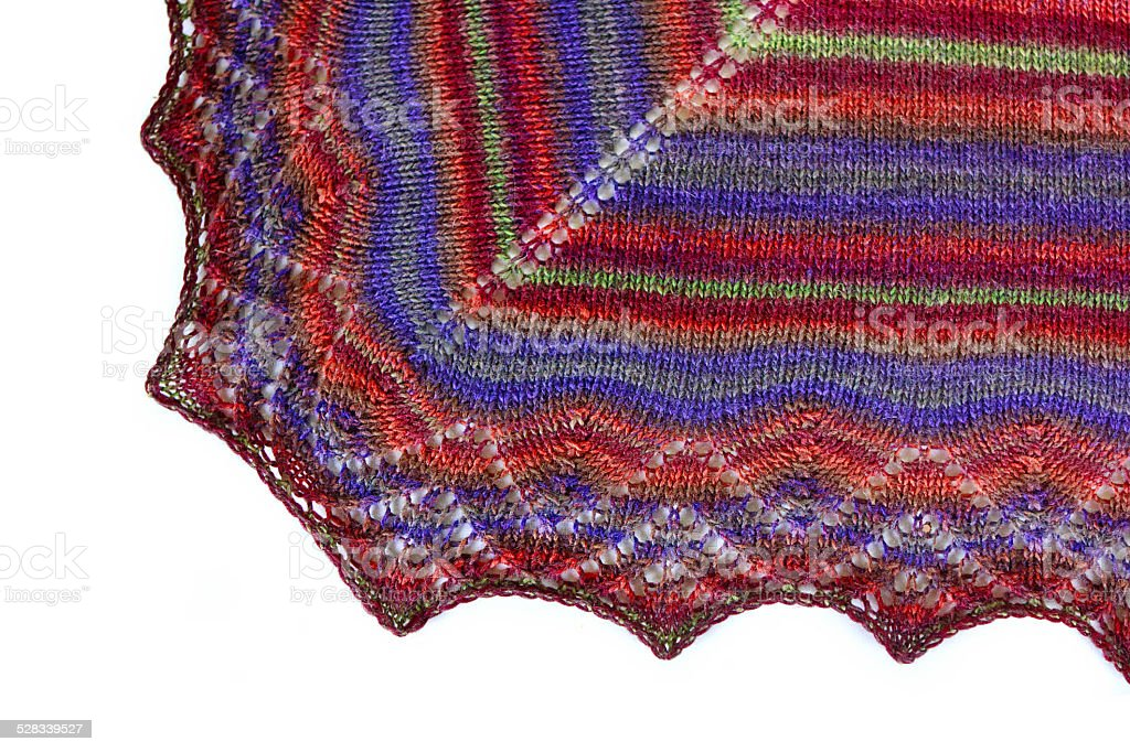 Coloured woolen shawl stock photo