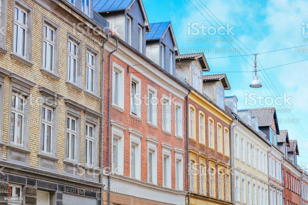 Colourful Aalborg stock photo