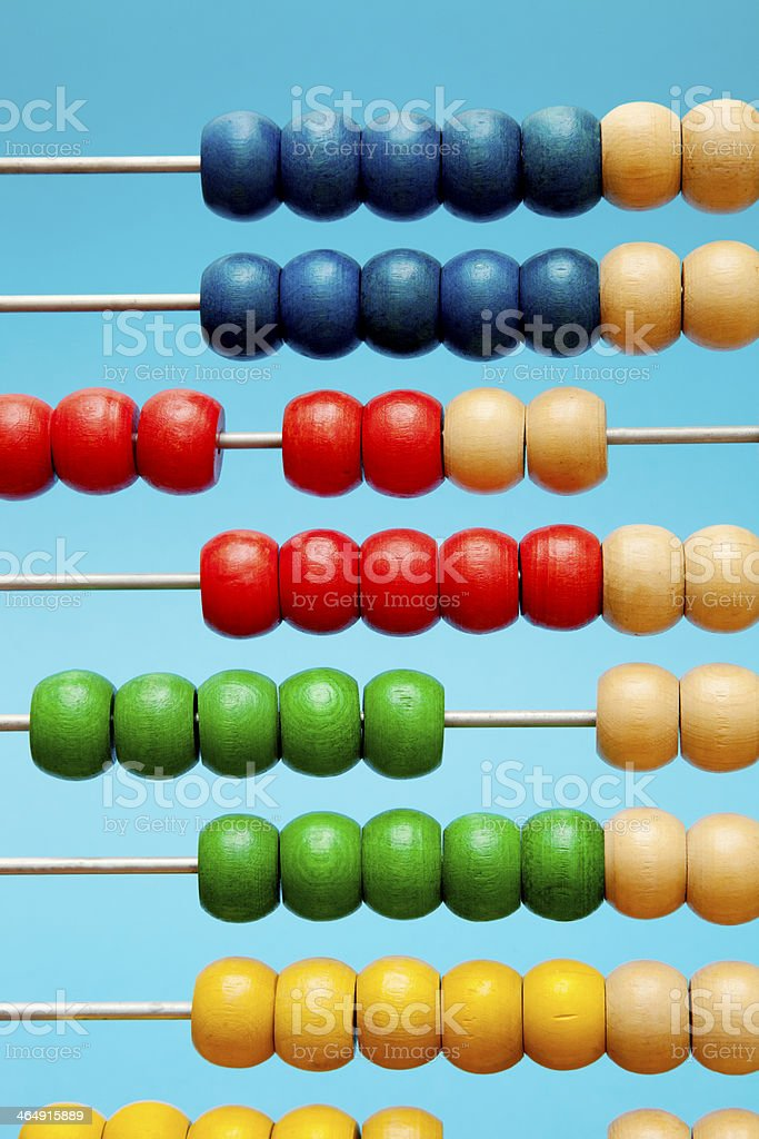 Colourful Abacus stock photo