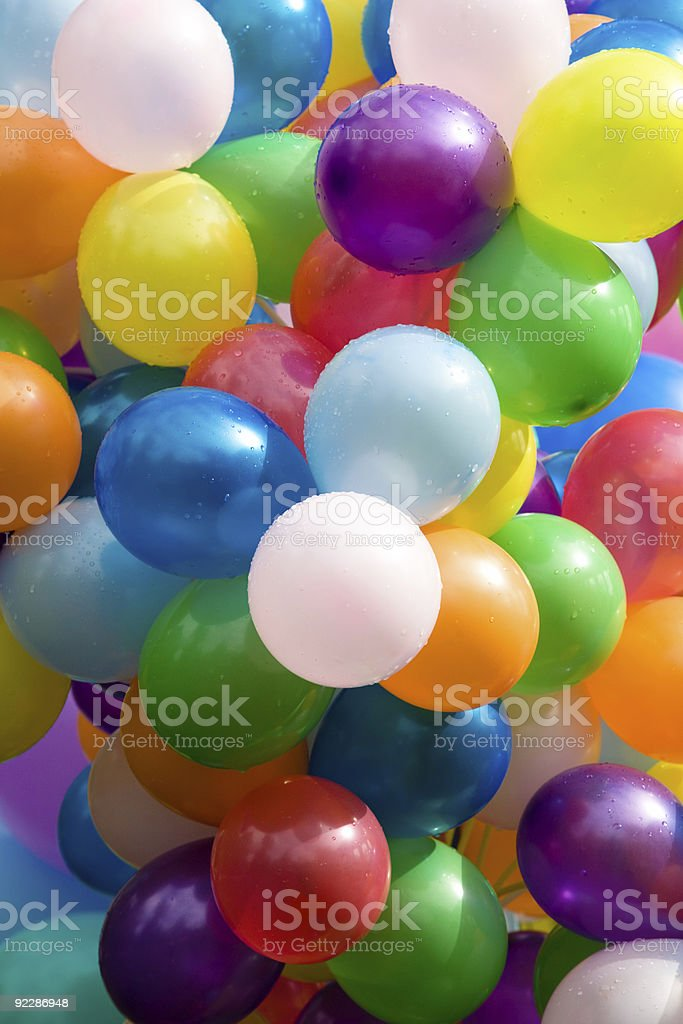 Colourful air balloons. royalty-free stock photo
