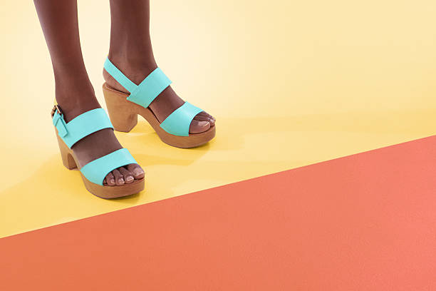 Colourful and footwear stock photo