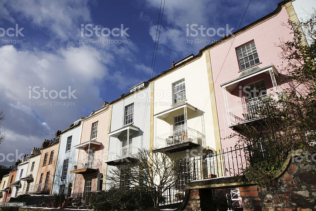 Colourful Balconied Houses royalty-free stock photo