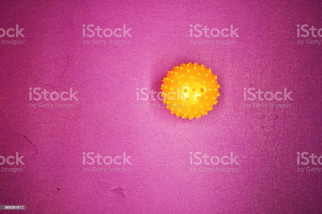 Colourful Ball On Mat royalty-free stock photo