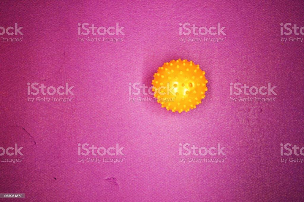 Colourful Ball On Mat zbiór zdjęć royalty-free