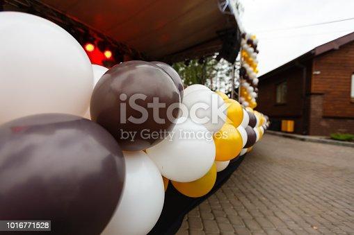 istock colourful balloons, golden, white 1016771528