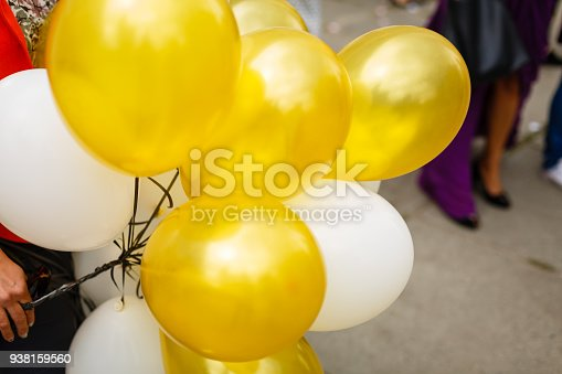 istock colourful balloons, golden, white, 938159560