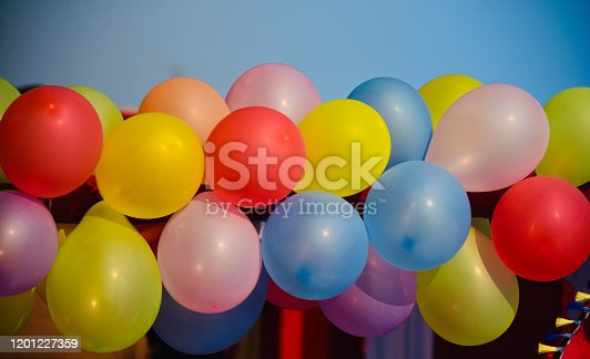 945748362 istock photo Colourful balloons isolated object unique photo 1201227359
