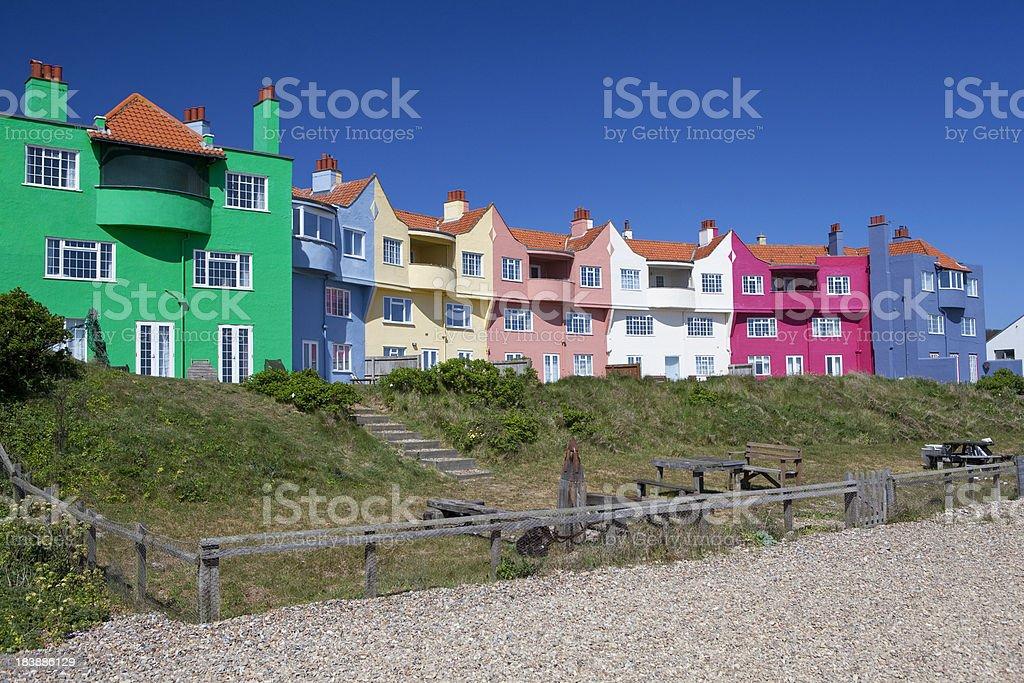 Colourful Beach Houses stock photo