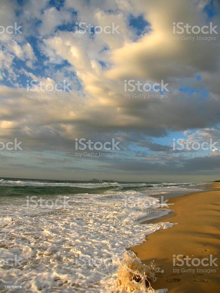 Colourful Beach royalty-free stock photo