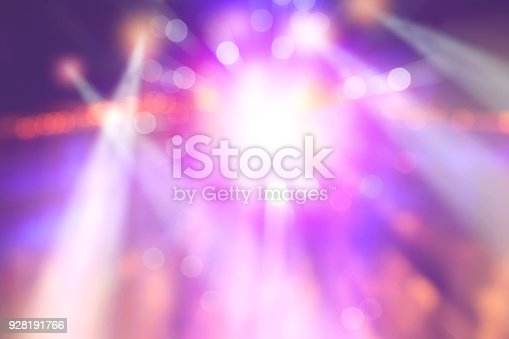 colourful blurred lights on stage, abstract image of concert lighting