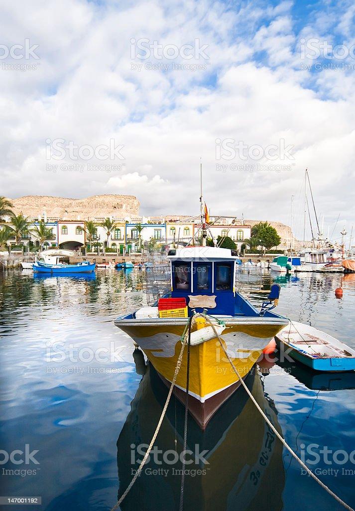 Colourful boat stock photo